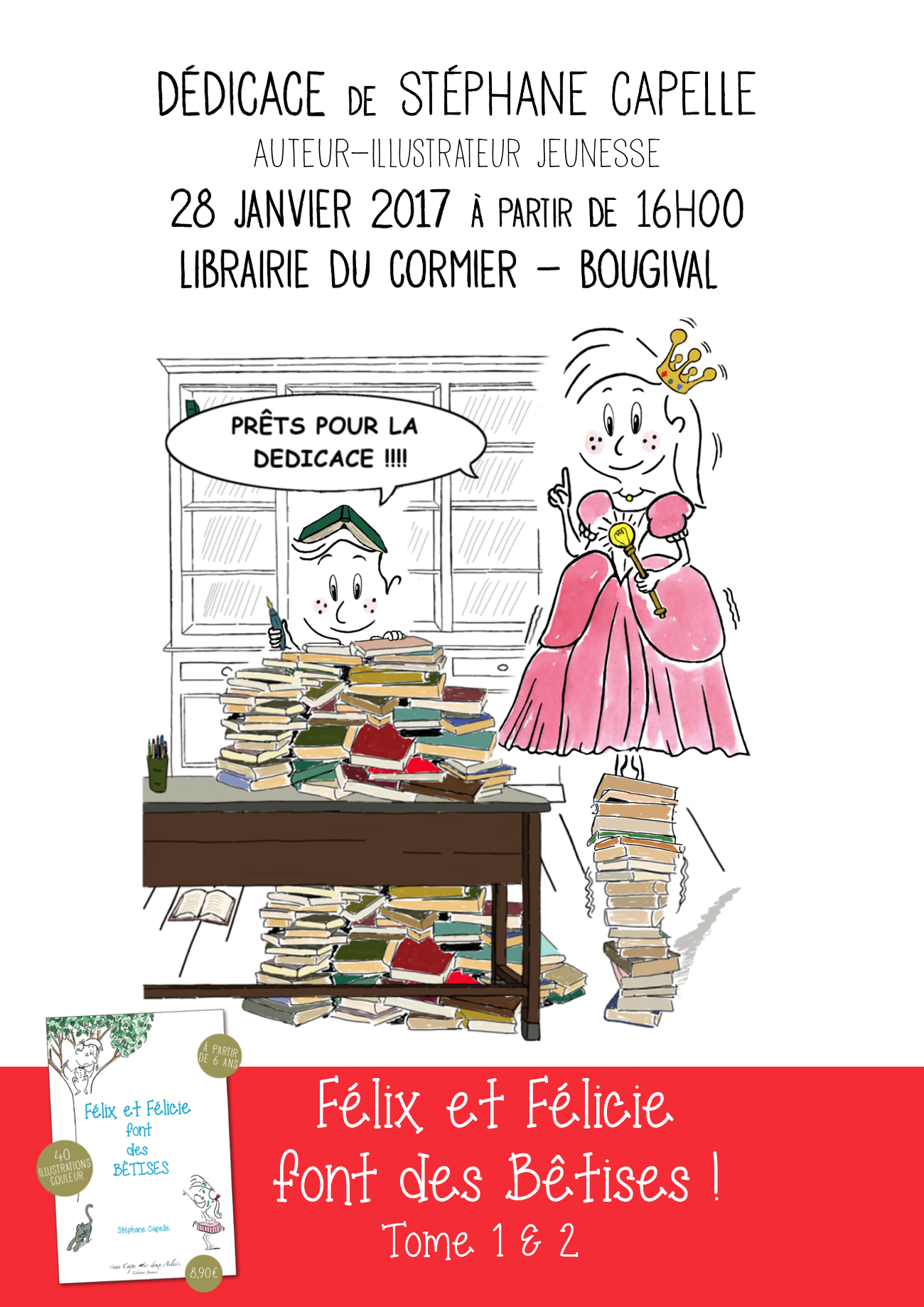 affiche dédicace Librairie du Cormier 2017